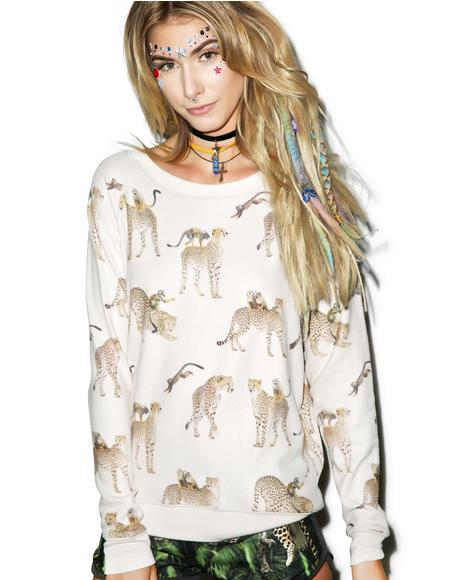 Cheetah Monkey Cozy Sweatshirt
