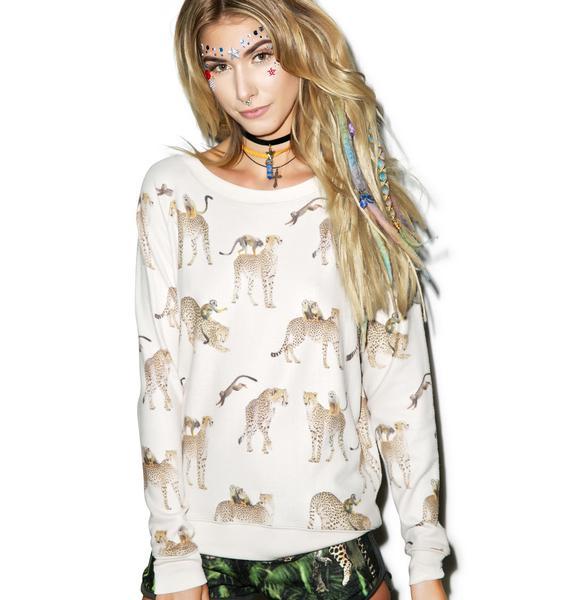 All Things Fabulous Cheetah Monkey Cozy Sweatshirt