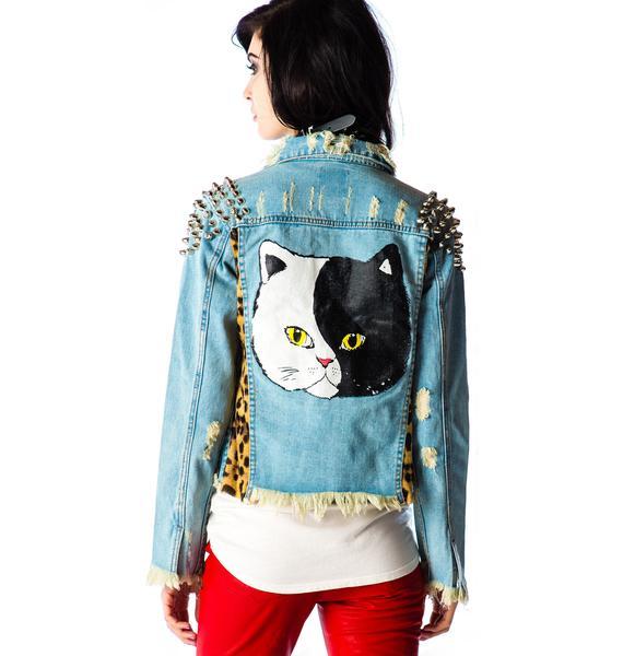UNIF Cat Denim Jacket