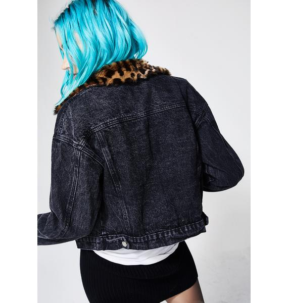 Never Back Down Denim Jacket