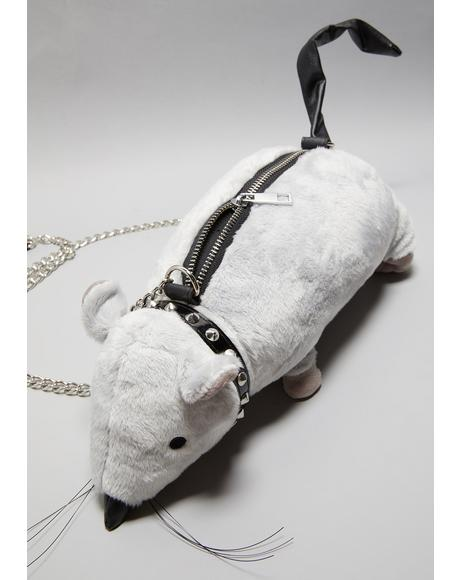 Gutter Punk Rat Crossbody Purse
