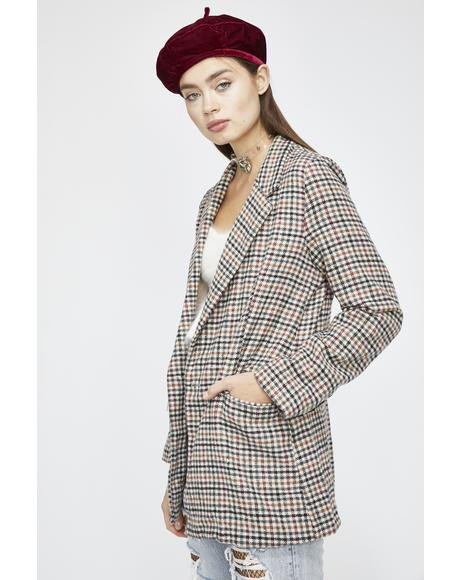 Money Moves Plaid Blazer