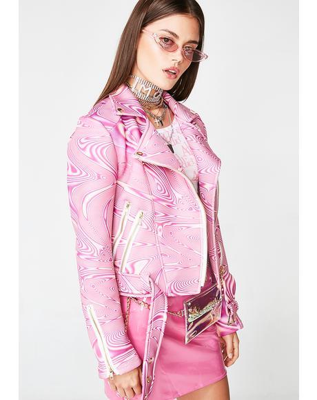 Pinkish Moto Jacket