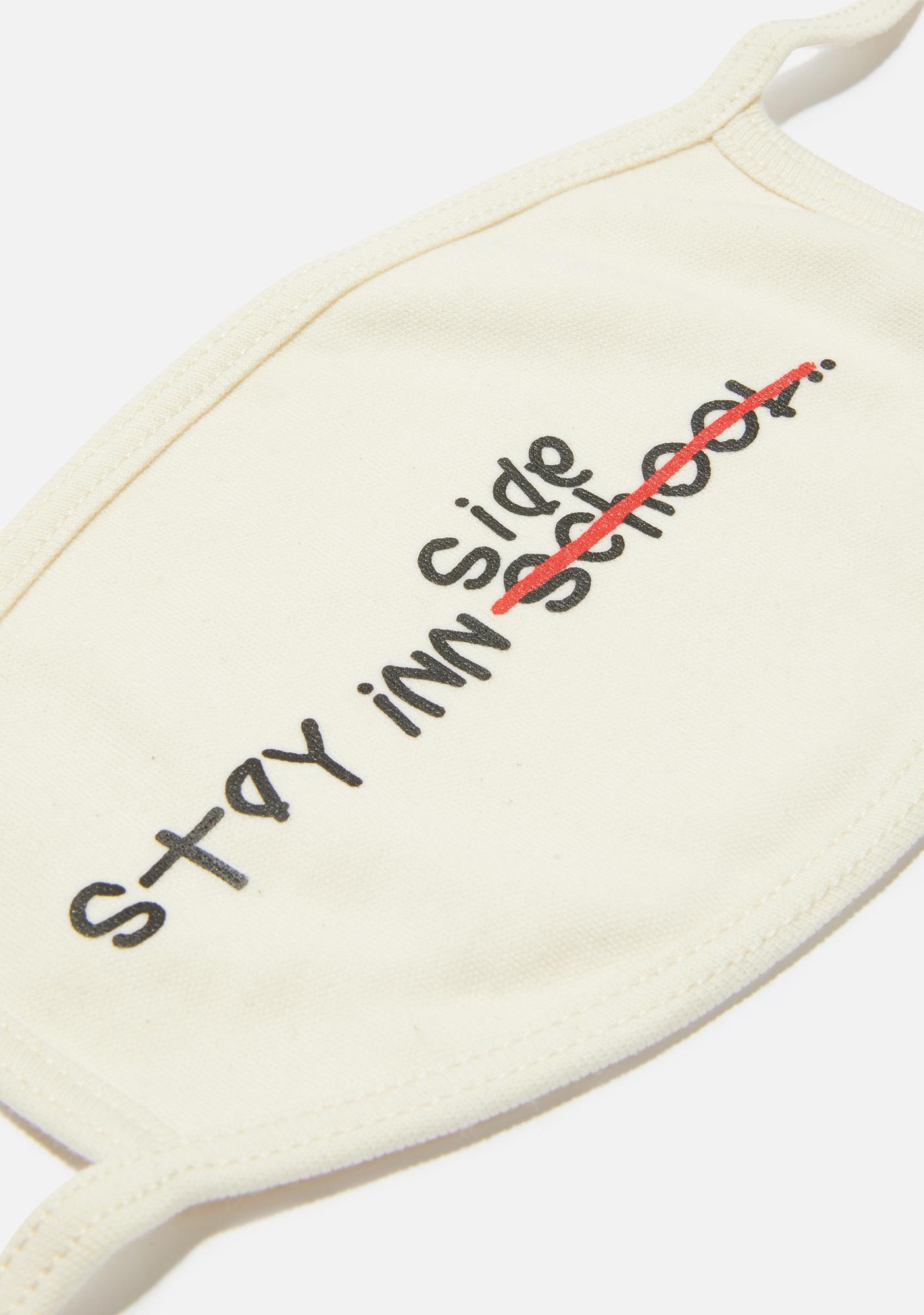 Hall Pass By B2SS Stay Inn Face Mask White