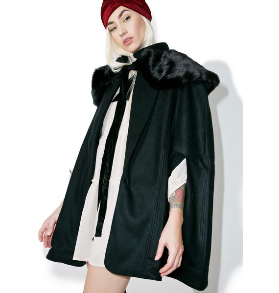 For Love & Lemons Madeleine Cape Coat