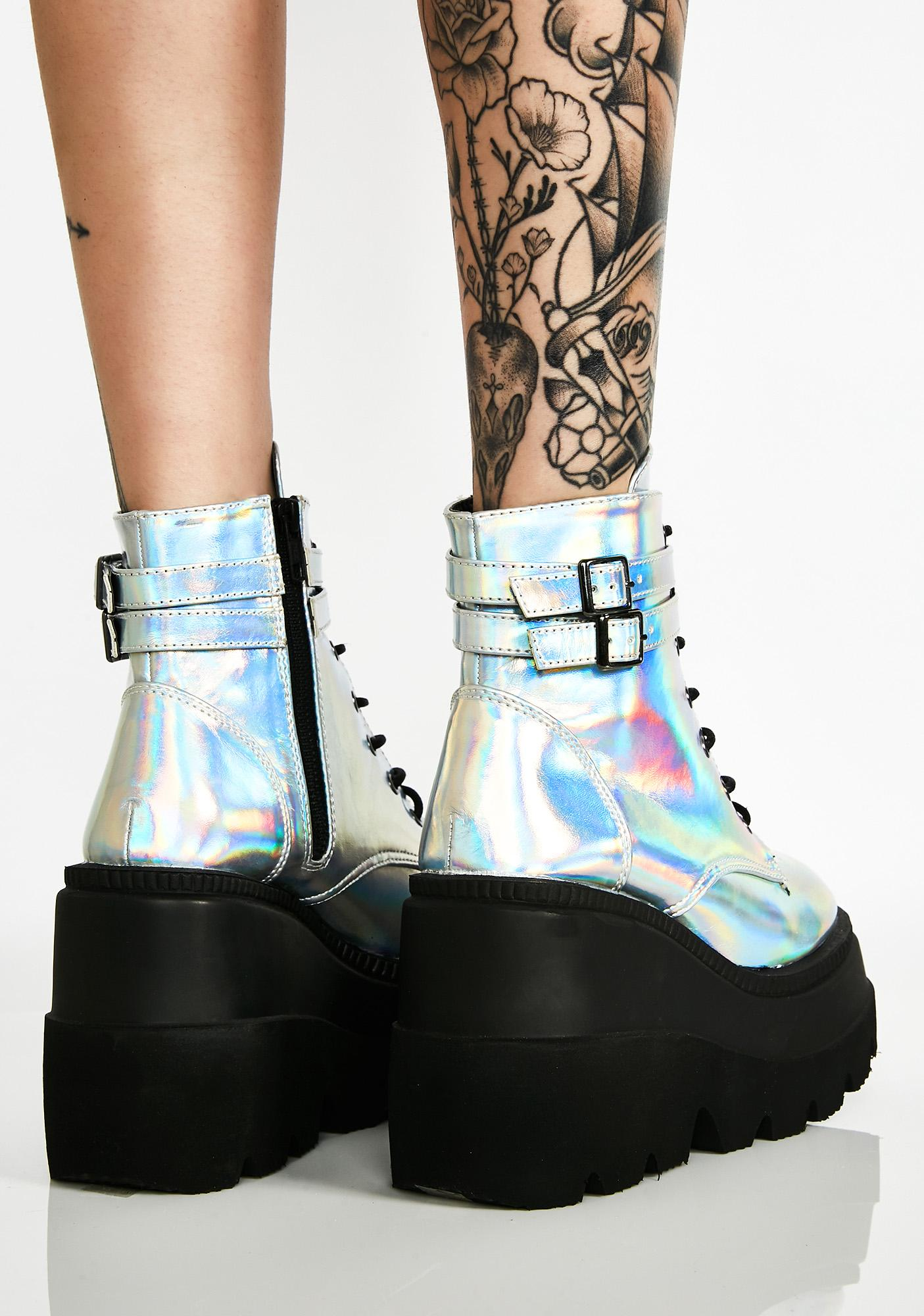 Demonia Spaced Out Technopagan Boots