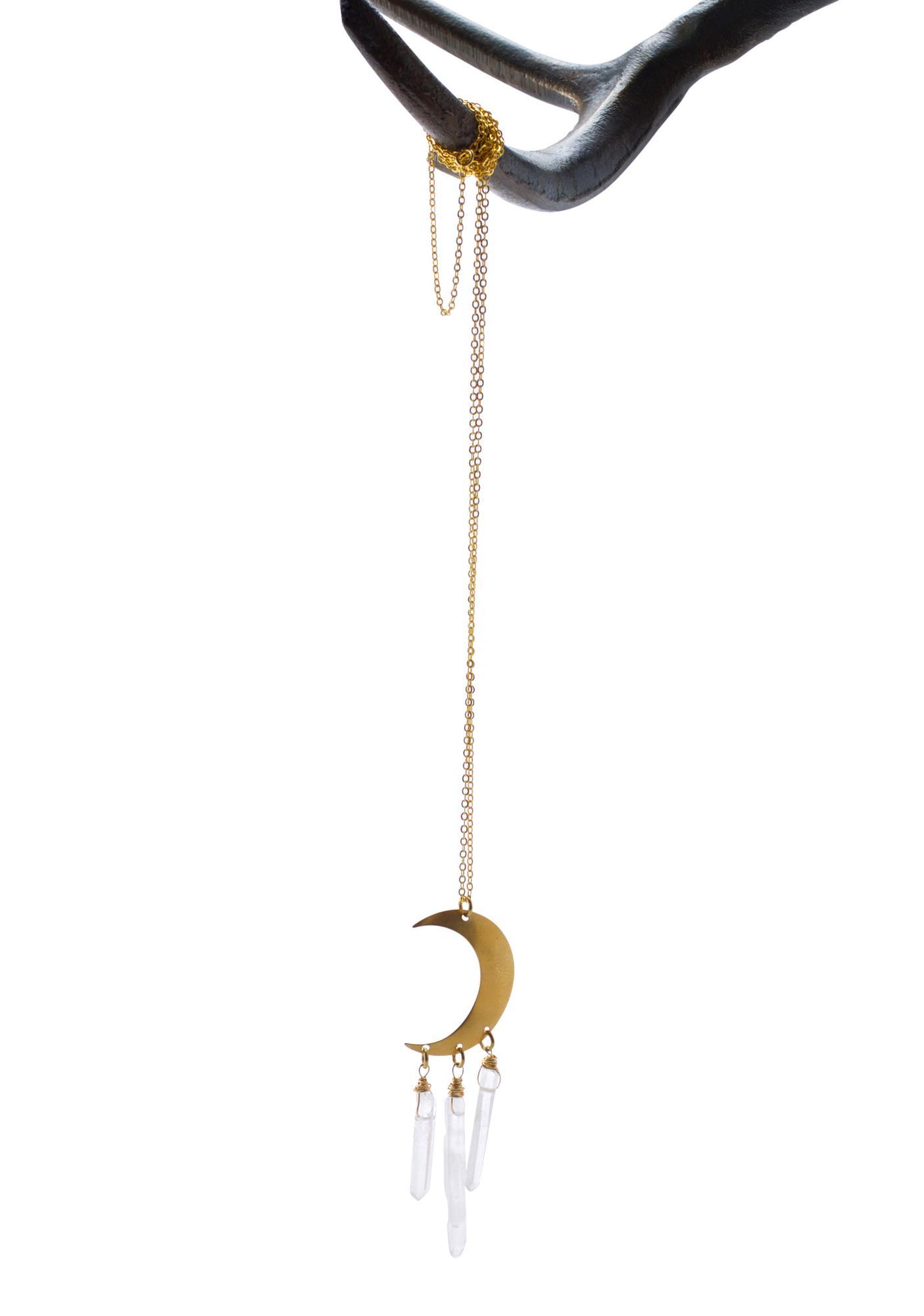 Ebb & Flow Moon Catcher Quartz Necklace