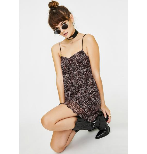 Motel Leopard Sanita Babydoll Dress