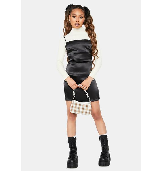 Wicked No Cheapskates Satin Mini Dress