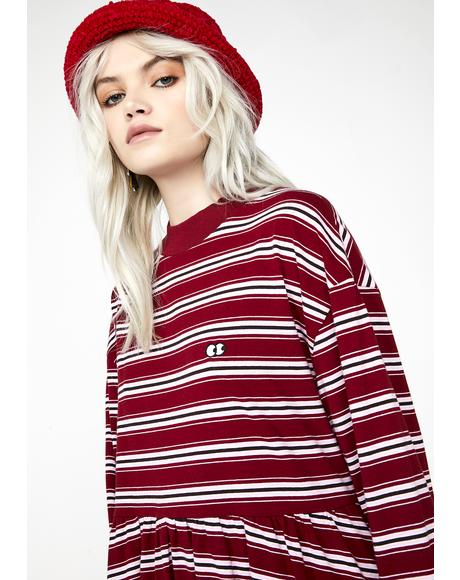 Stripy Long Sleeve Sally Dress