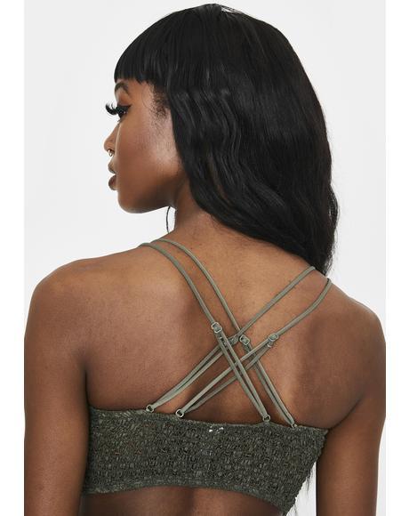 Moss Miss Dazie Crochet Bralette
