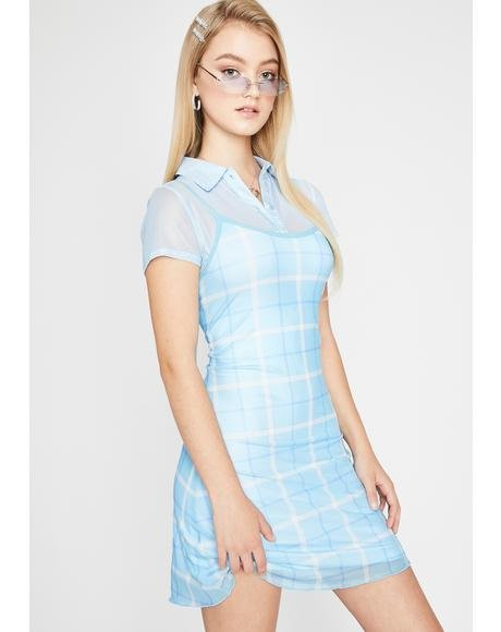Miss Popular Plaid Dress