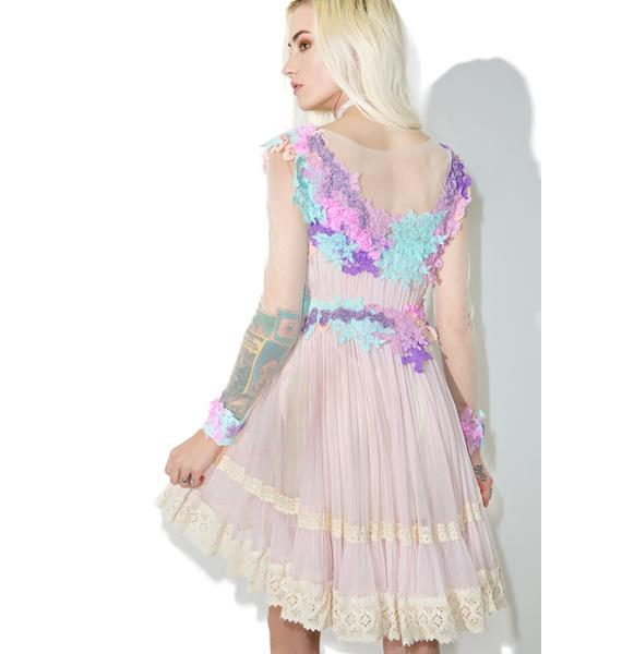 Lilac Dew Drop Floral Dress