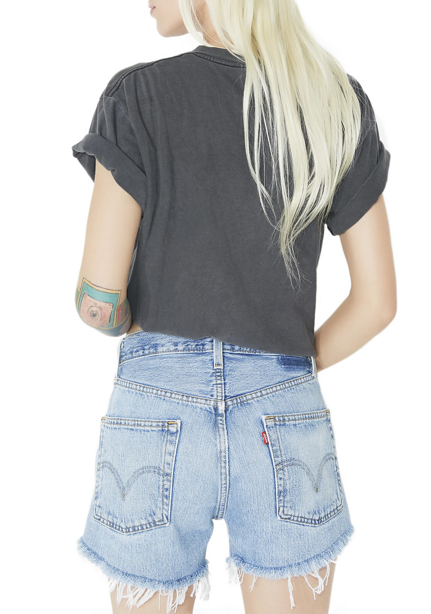 American Vintage Denim Lace-Up Shorts