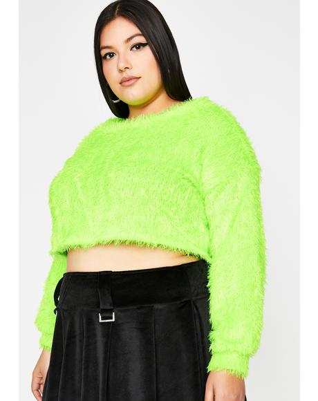 Dank Total Daring Diva Crop Sweater