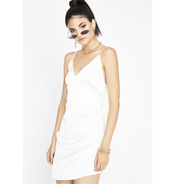 Take It To The House Satin Dress