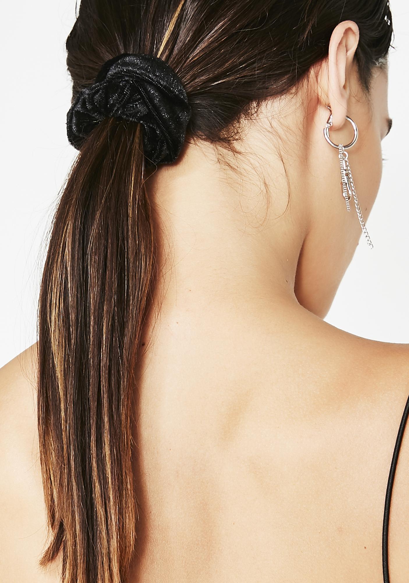 Goth Spirit Velvet Scrunchie