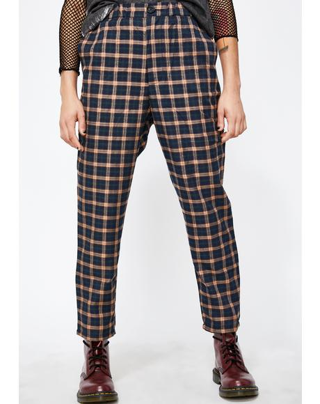 Babe Takeover Plaid Trousers