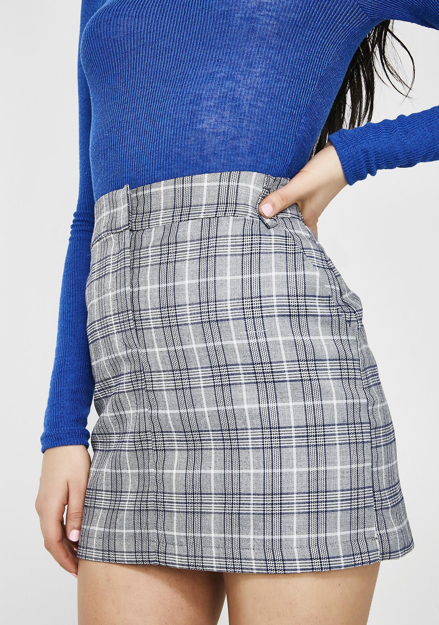Class Werk Plaid Skirt