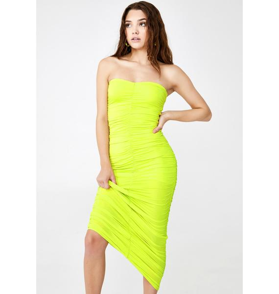 Re Named Glow Up Ruched Maxi Dress