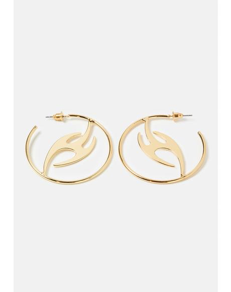 Light The Fire Hoop Earrings