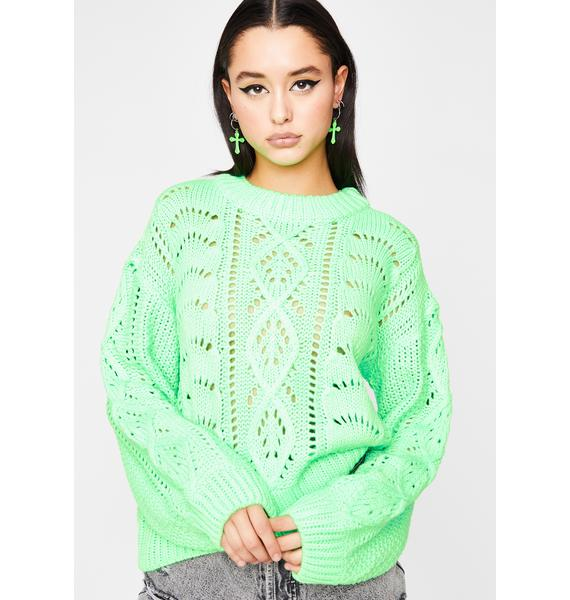 Lime Sweet Flavor Knit Sweater