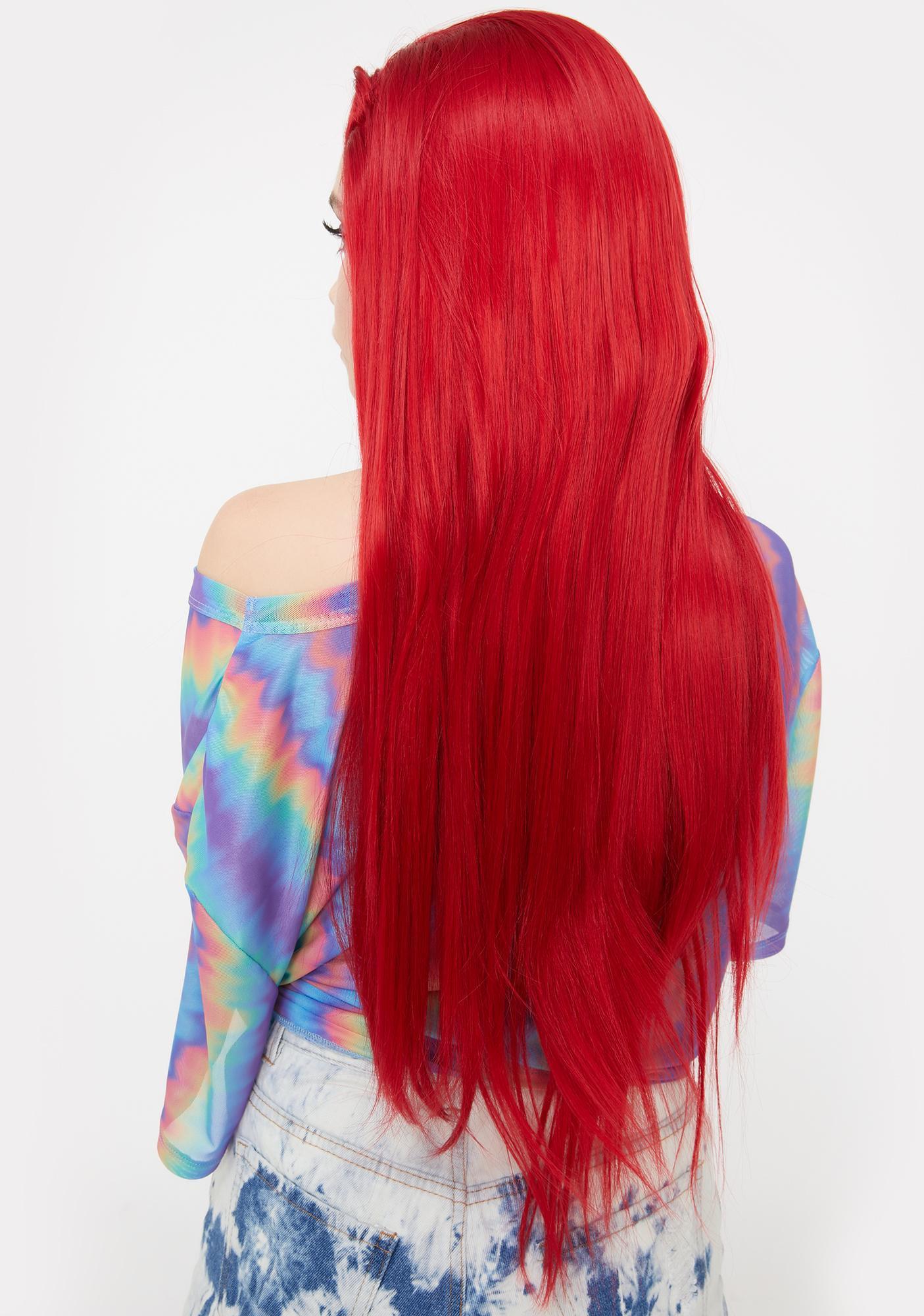 Lit Unicorns Red $lut Lace Front Wig