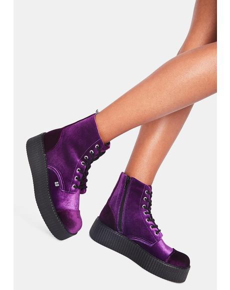 Violet Velvet Viva Mondo Boot