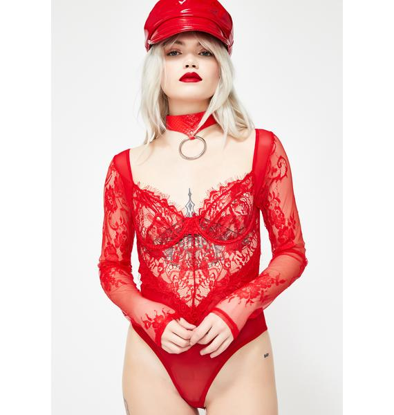 Snatched Sinner Lace Bodysuit