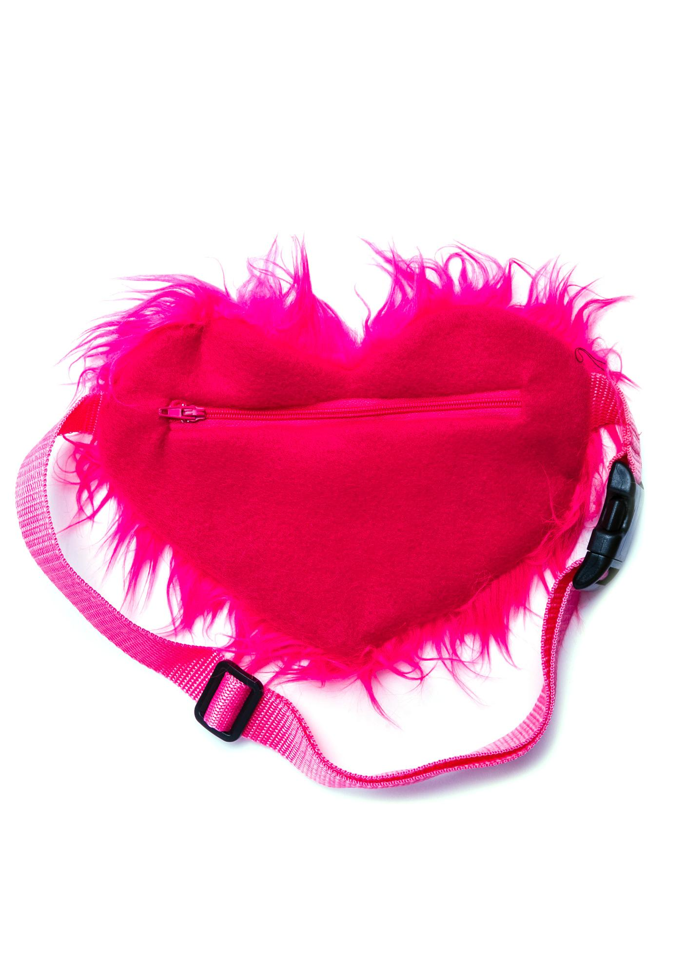 Heart On My Hip Furry Fanny Pack