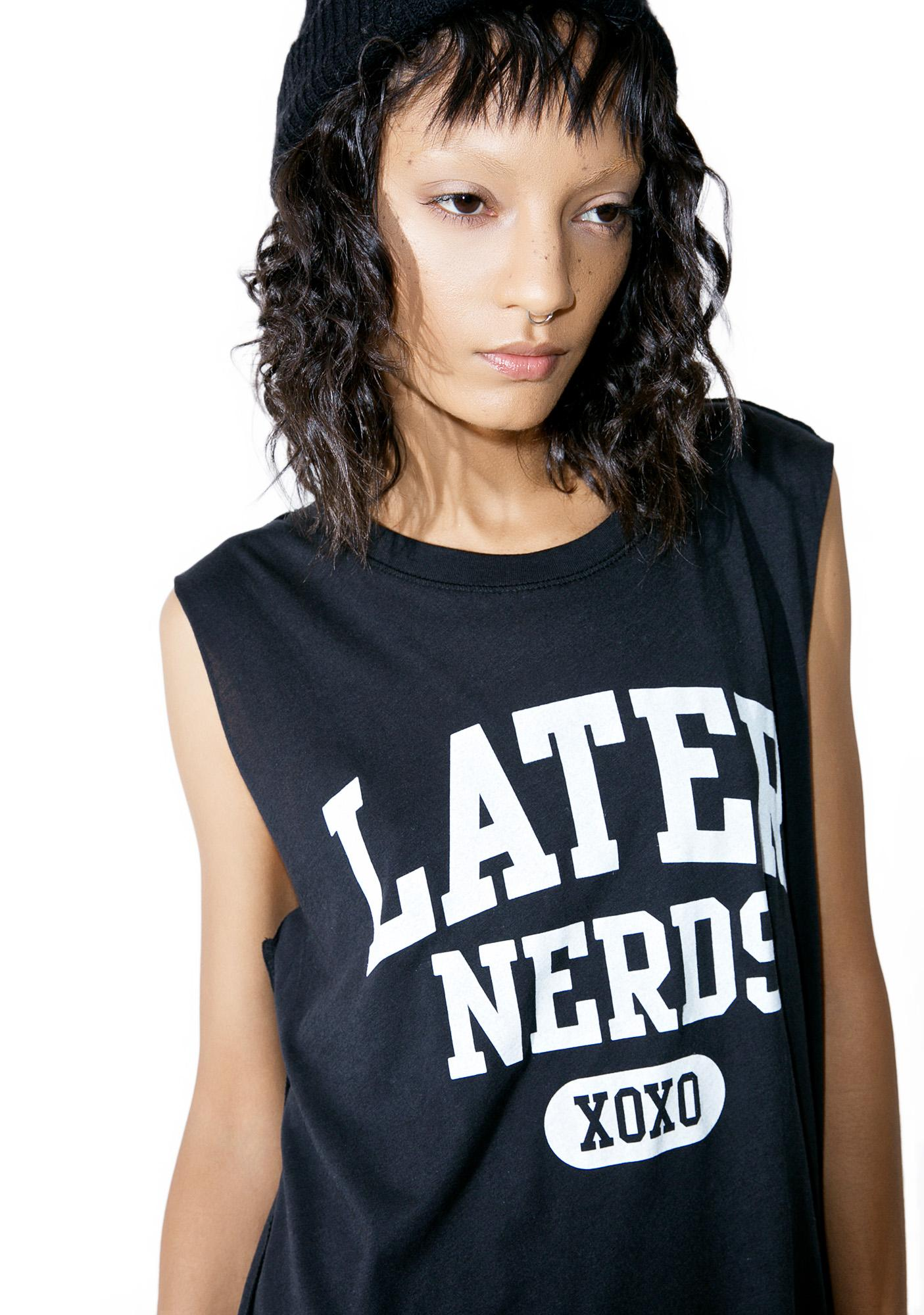 Social Decay Later Nerds Tank Top