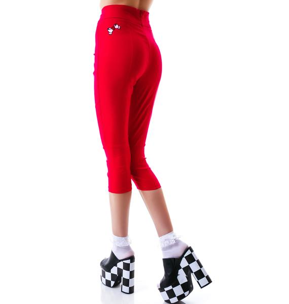 Sourpuss Clothing Sugar Pie Pink Capris