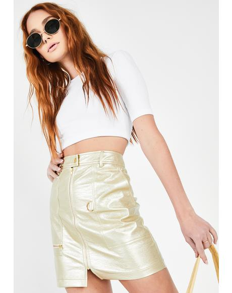 Gold Pan Mini Skirt