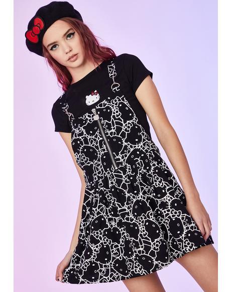 Shadow Dimension Pinafore Dress