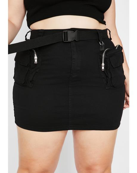 Brand New Bae Alert Mini Skirt