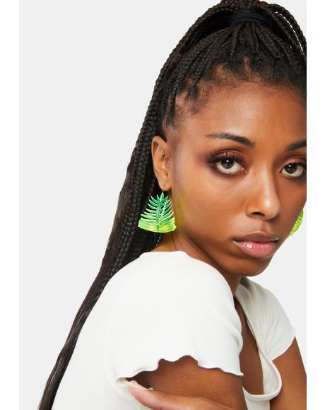 Bonnie Palm Hop Drop Earrings