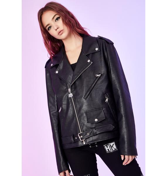 Dolls Kill x Hello Kitty Rebel Grl Moto Jacket