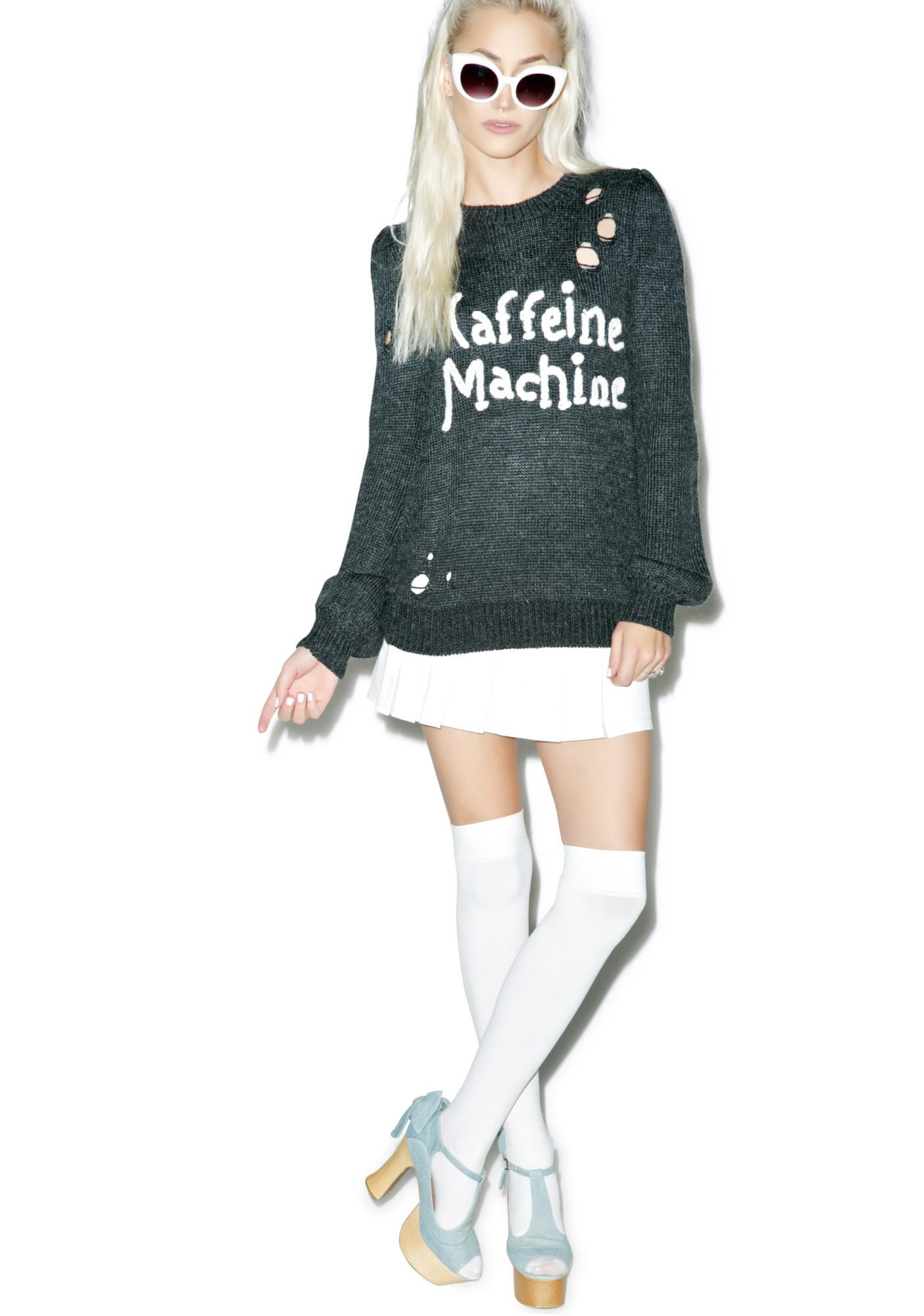 Wildfox Couture Caffeine Machine Misty Sweater