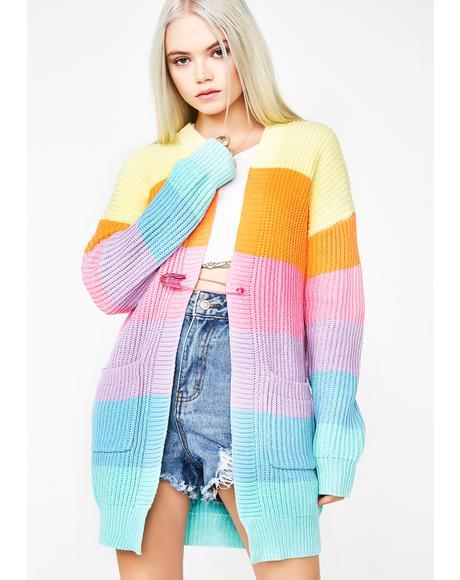 Candy Rainbow Cardigan