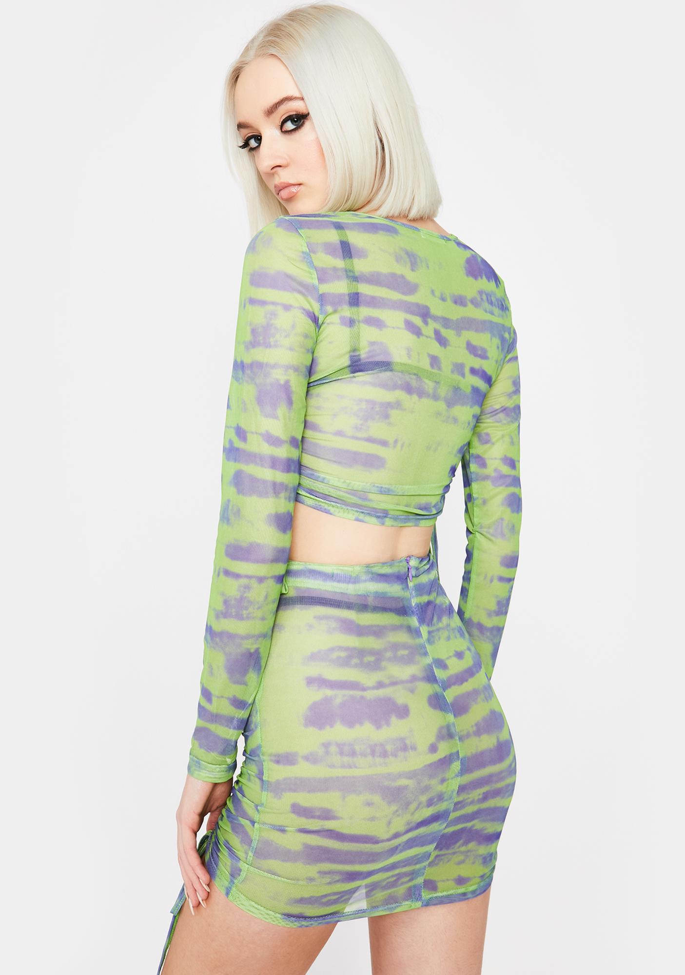 Lime Tough Competition Mesh Skirt