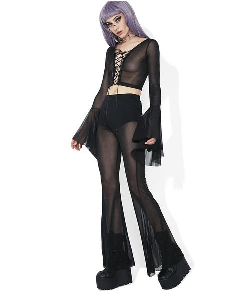 Twilight Skies Mesh Pull-On Flares