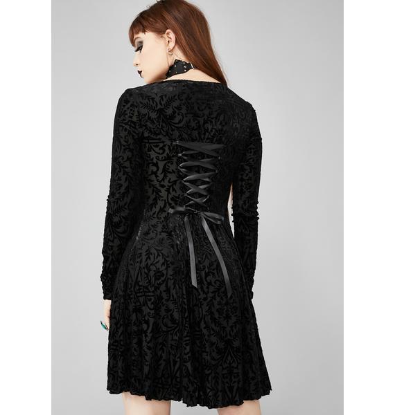 Widow Insidious Romance Velvet Dress