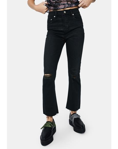 Black The Original High Rise Mom Jeans