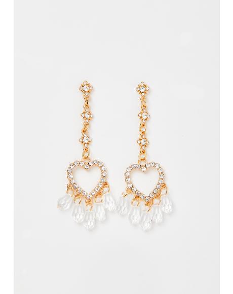 Expensive Love Rhinestone Earrings