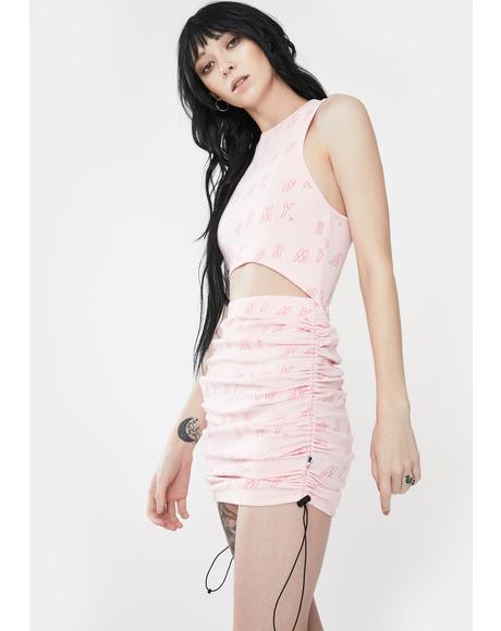 Urmah Dojo Pink Printed Crop Tank