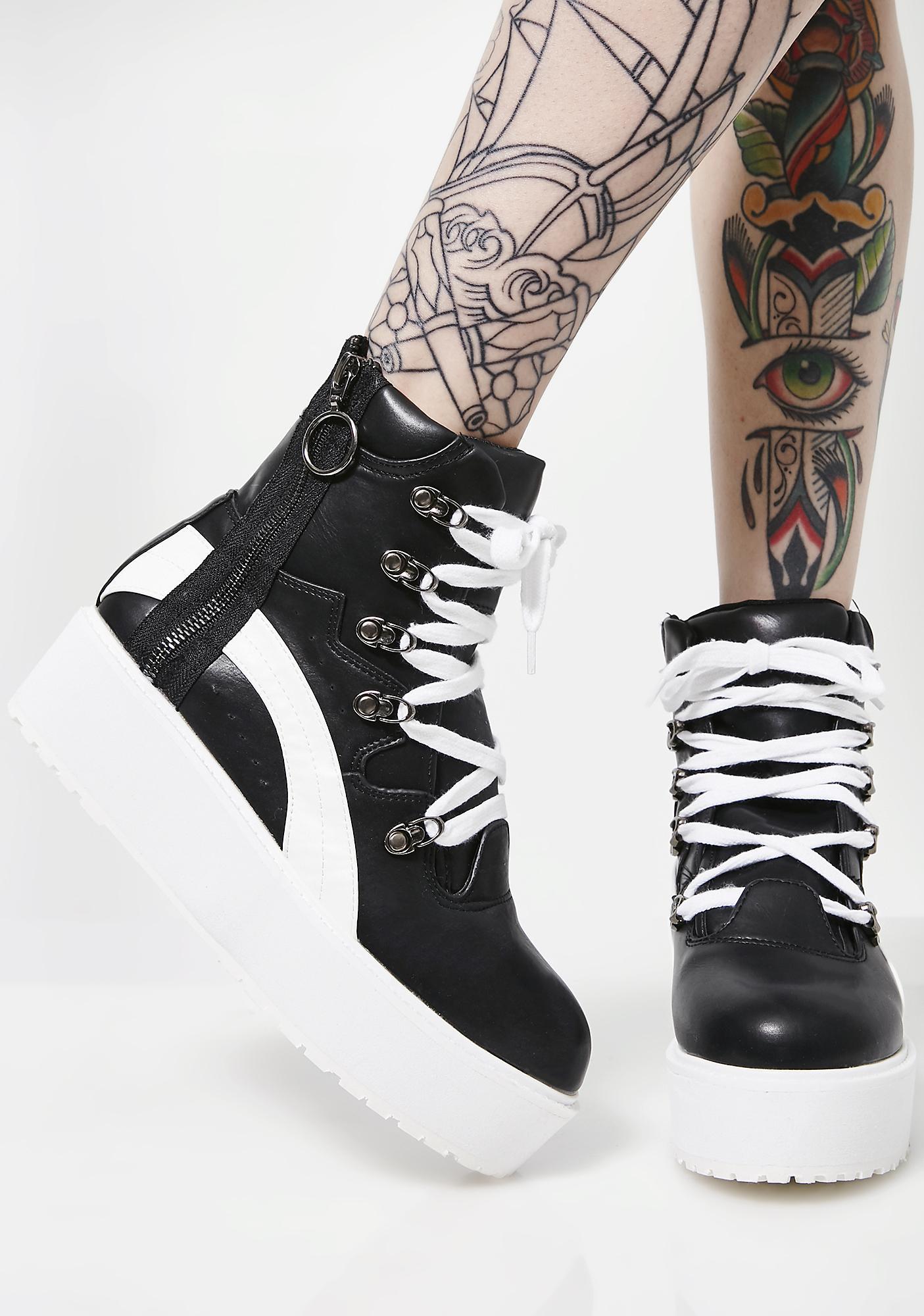 Game Winner Zipper Platform Sneakers