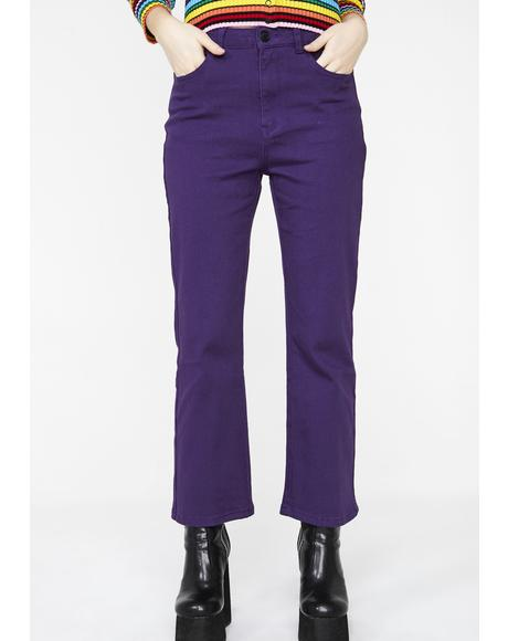 Purple Heart Denim Kick Flares