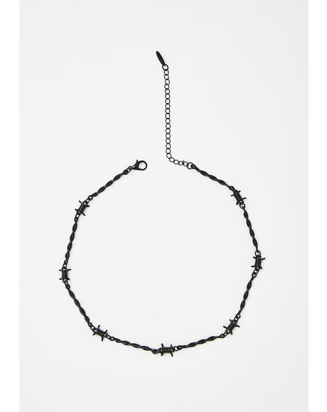 Dark Danger Barbed Wire Choker