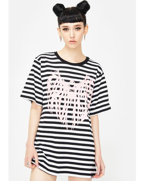 Death Cloak Stripe Graphic Tee