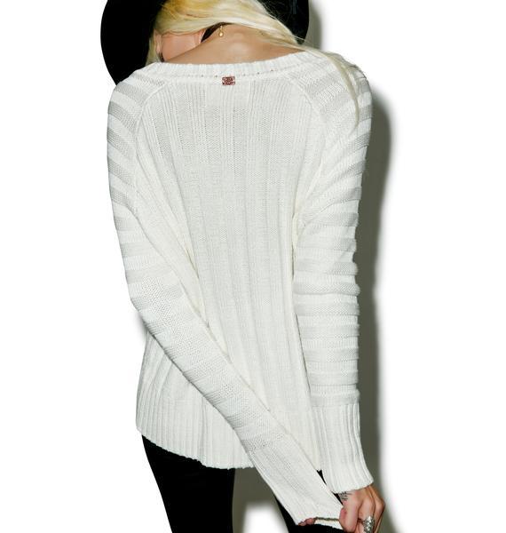 For Love & Lemons Ashley Raglan Sweater